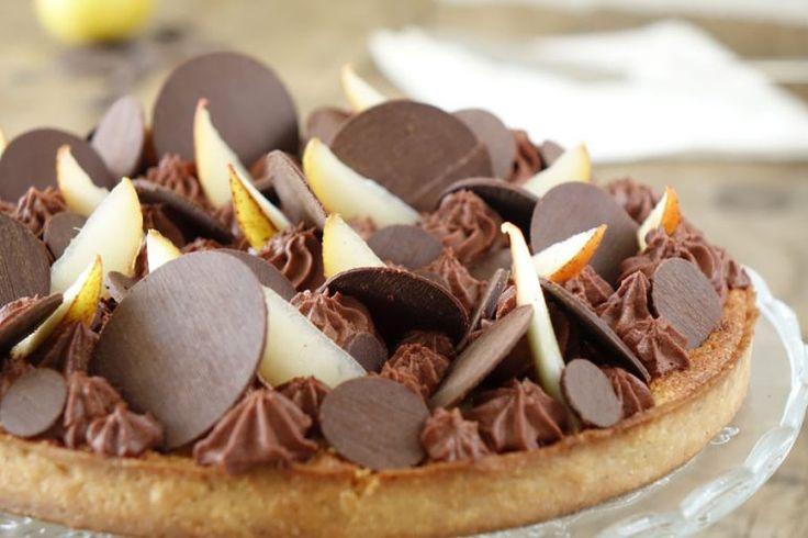 Tarte poire chocolat. Une tarte poire chocolat revisitée façon Fantastik !. La recette par Empreinte Sucree.