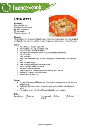 Licence to Cook - Sessions 6 -10 Recipes