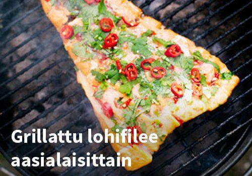 Grillattu lohifilee aasialaisittain, Resepti: Finefoods #kauppahalli24 #resepti #lohifilee #grilliruoka #verkkoruokakauppa