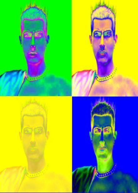 Digital Art . auto retrato