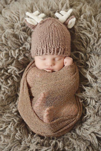 Baby Deer Outfits – Coco Ruby Darling Hat and pants set for newborn baby photography shoot photo