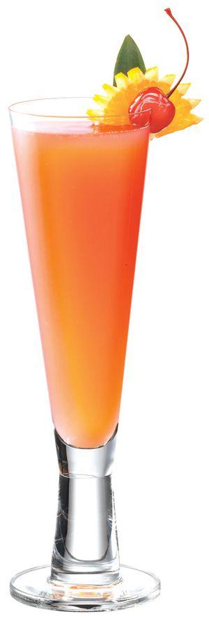 MOSCATO SPRITZER: 1/2 moscato, orange juice, and cranberry juice.