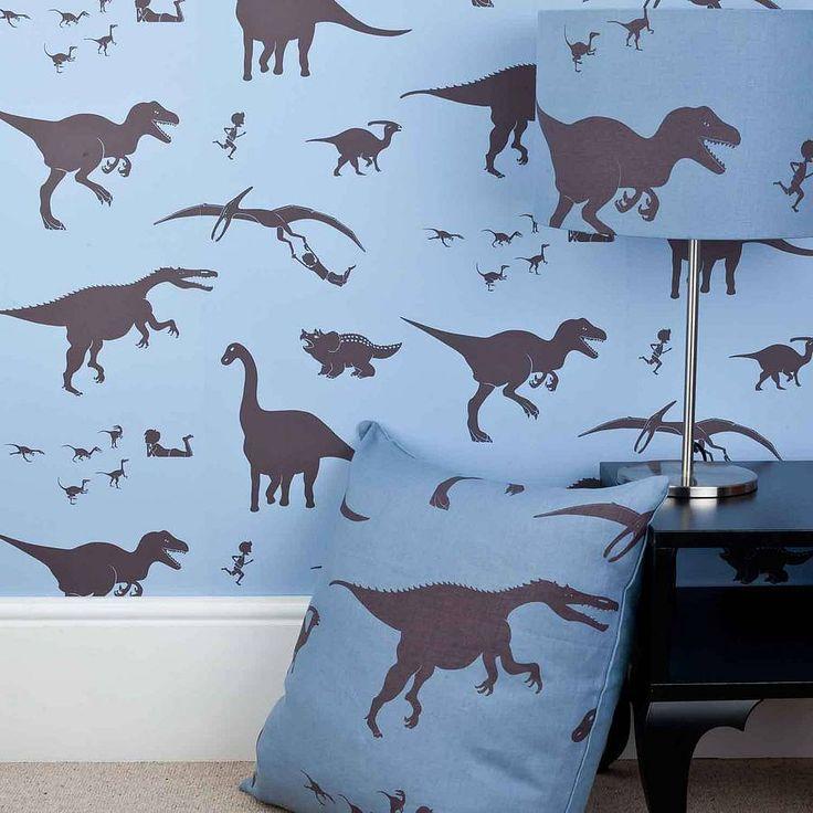 dya think-e-saurus dinosaur wallpaper by paperboy wallpaper | notonthehighstreet.com