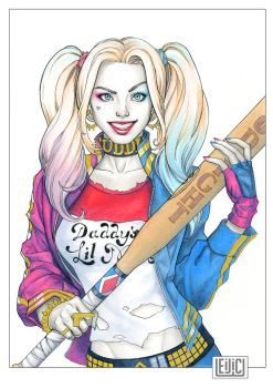 """Joker & Harley This is not a blank cover dimensions: 8,8x13,2"""" Colors - Logos: Copic Marker Sale: mga1wars@aol.com"""