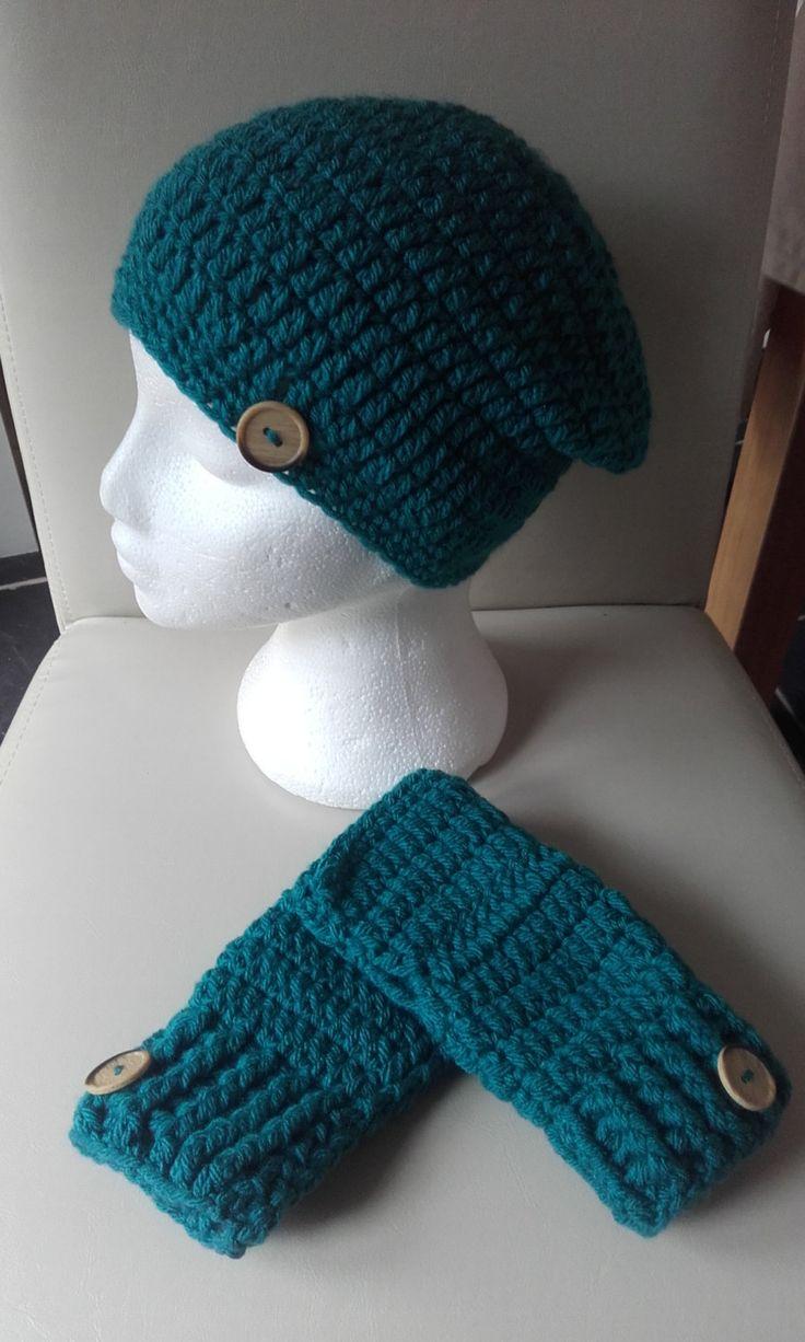 Ladies slouchy hat, crochet ladies beanie  hat, fingerless gloves, gift for her, gift for mam, ladies hat, ladies slouchy beanie hat by crochetfifi on Etsy