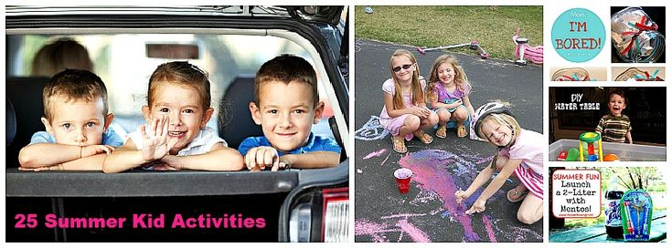 summer activities collage - lots and lots of links to great fun!: 25 Things, Activities Collage, Awesome Ideas, 25 Kids, 25 Summer, Summer Fun, Things To Do, Kids Summer Activities