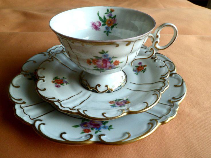 Schöne ältere Sammeltasse Sammelgedeck Graf Henneberg Porzellan Ilmenau | eBay