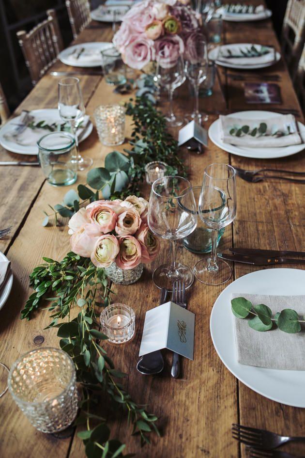 Rustic wedding table inspiration by Natasha Jane Events | rustic wedding flowers | boho wedding ideas | mill wedding styling | Fox Tail Photography |Yorkshire based wedding photographer