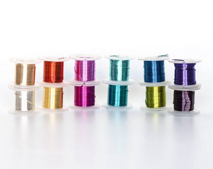 2322_Assorted wire spools 28 gauge, Jewelry wire 0.32mm, Multicolor wire, Coloured copper wire Craft thin wire Silver plated сopper wire_55m by PurrrMurrr on Etsy