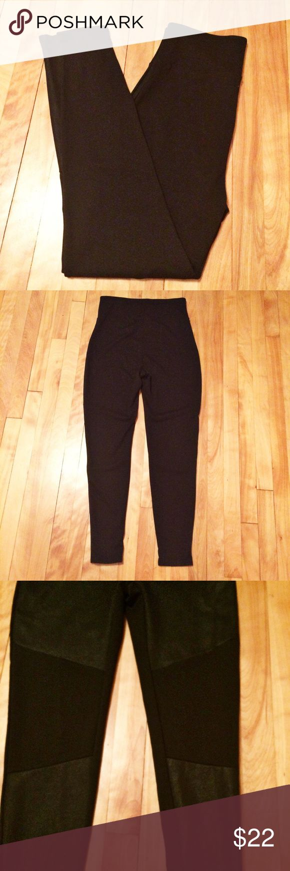 """Assets by Spanx Two Tone Structured Moto Leggings Waist 29"""" (unstretched) Inseam 28""""  Body: 70% Polyester 26% Rayon 4% Spandex  Waist Lining: 80% Nylon 20% Spandex  Thank you for looking!  May require pressing or steaming upon arrival     476 Assets By Spanx Pants Leggings"""