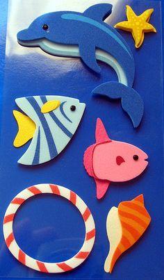 decoracion con delfines infantiles con goma eva - Buscar con Google