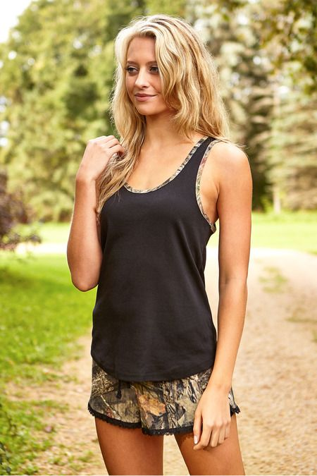 Mossy Oak® Break-up® Country Camo Sleep/Lounge Tank Top & Shorts Set