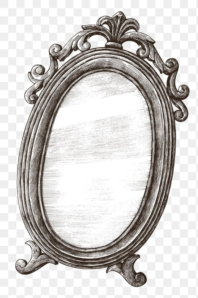 Hand Drawn Vintage Mirror Design Element Free Image By Rawpixel Com Hein Mirror Drawings Mirror Illustration Vintage Drawing