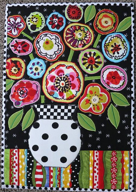 """Folk Art Flowers"" by mamacjt, via Flickr"
