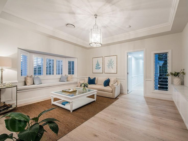 Hamptons-style master suite living area