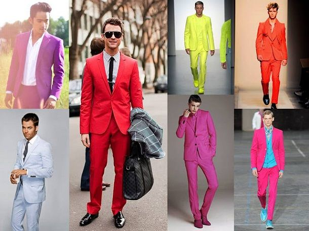 Bright hued suits resurfaced in a/w 2012, still hanging in there ...