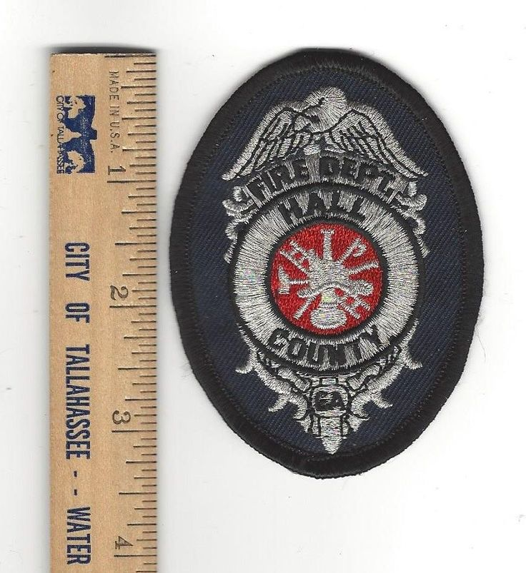 "vintage Hall County GA Georgia Fire Dept. small 3.25"" badge-style patch - NEW!"
