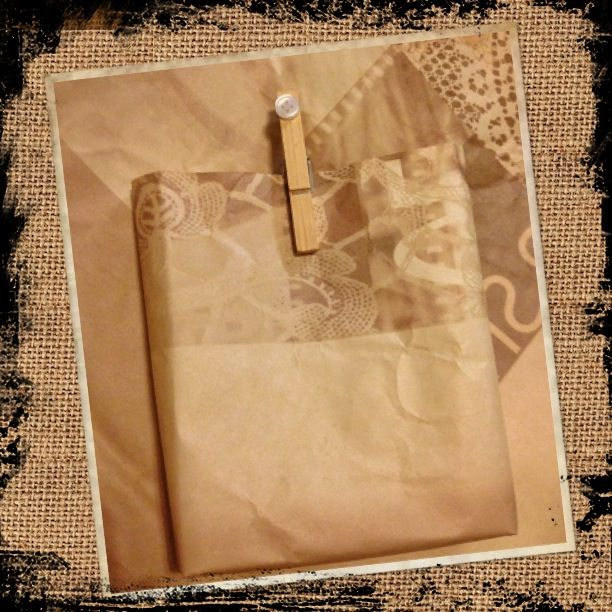 Plain handmade gift bag with peg.