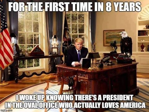 President Donald J. Trump....new President at the helm ❤️