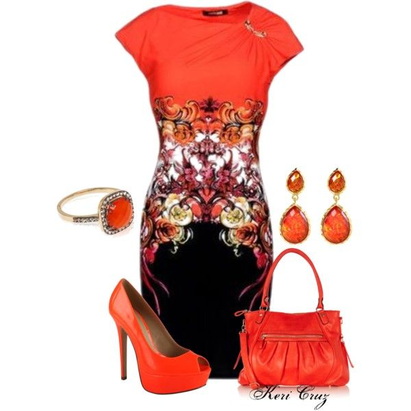 On Fire, created by keri-cruz on Polyvore
