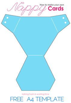 free nappy card diy template diaper invitation shower