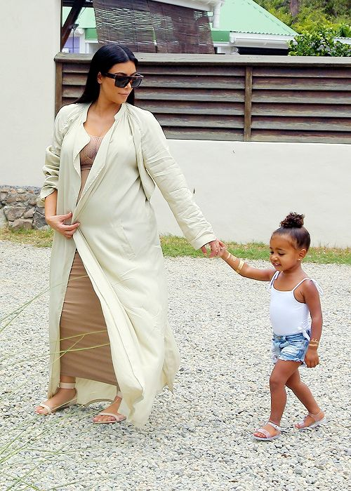 Kim Kardashian and North West in St. Barts
