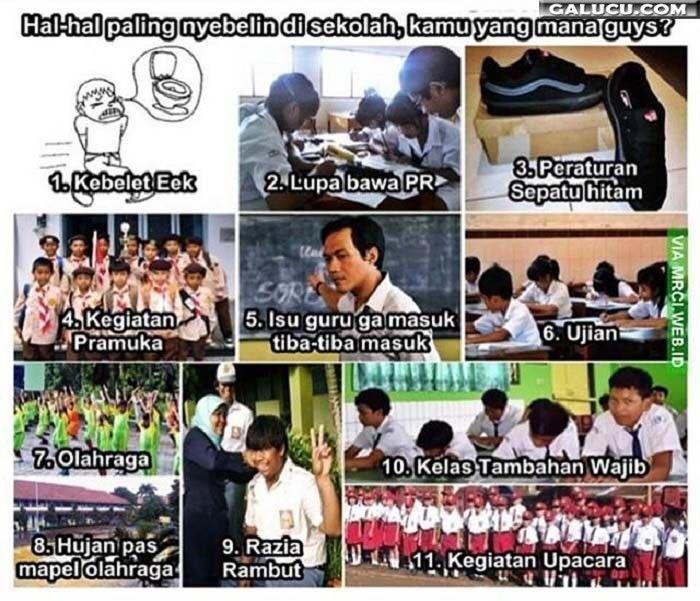 Hal-hal paling nyebelin di sekolah #GambarLucu