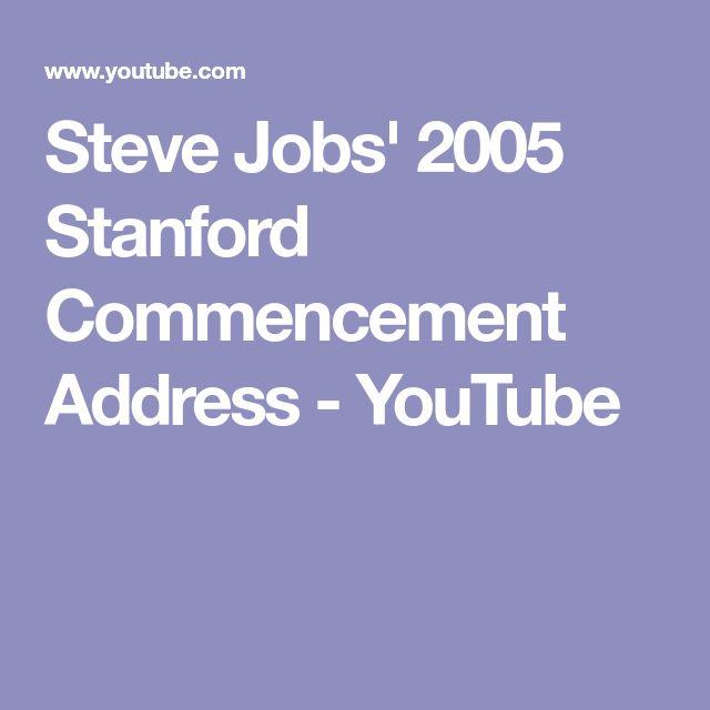 Steve Jobs' 2005 Stanford Commencement Address - YouTube