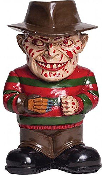 Morbid Enterprises Freddy Krueger Lawn Gnome, Cream/Black/Red/Brown/Green, One Size