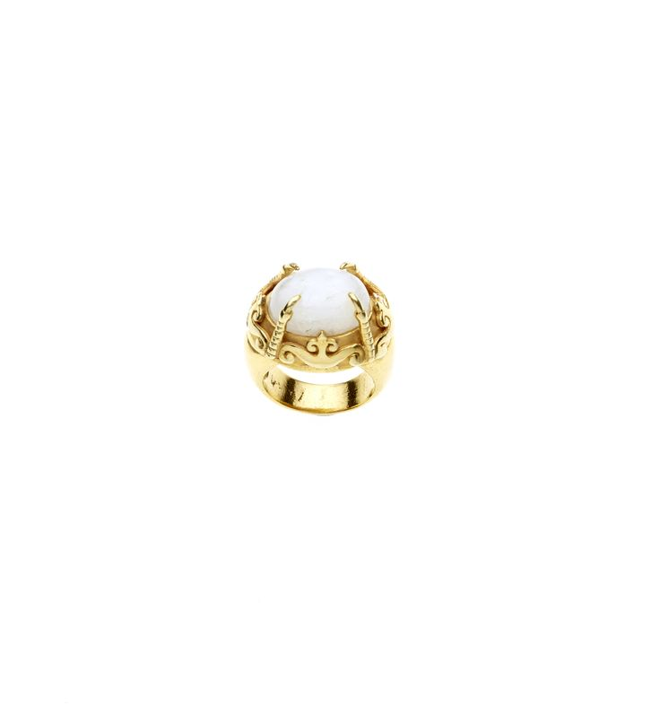 PUSHMATAaHA/ The Ursus Ring // Gold with Calcite