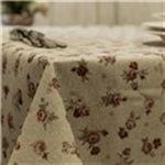 Manteles resinados lino, manteles antimanchas. Flores country. Www.lallavehueca.com