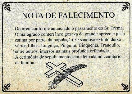 PoRtUgUêS nA TeLa: Nota de #falecimento
