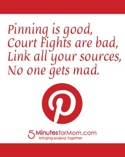 Pinning Is Good    Join us for Pin It Friday at www.5minutesformom.com/pins
