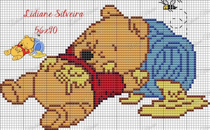 Lidiane Silveira Ponto Cruz: Grafico do ursinho Pooh