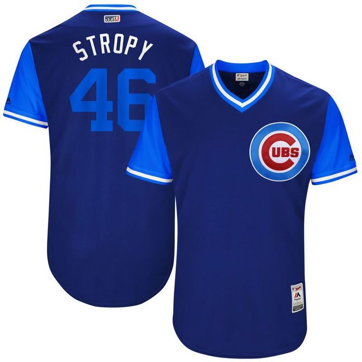 "Pedro Strop ""Stropy"" Chicago Cubs Majestic 2017 Players Weekend Authentic Jersey - Royal"