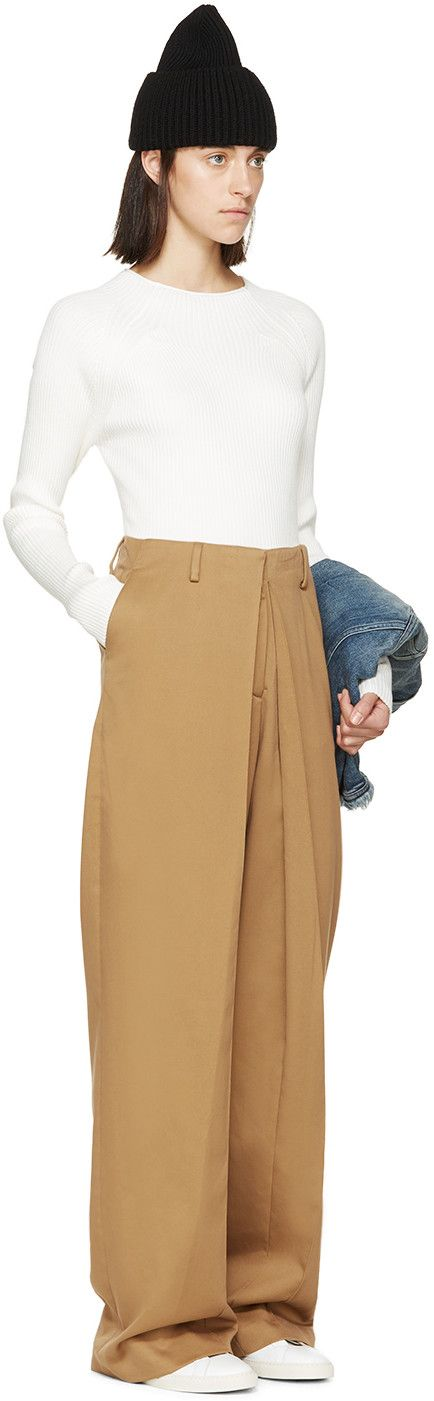 Aalto Camel Pleated Trousers