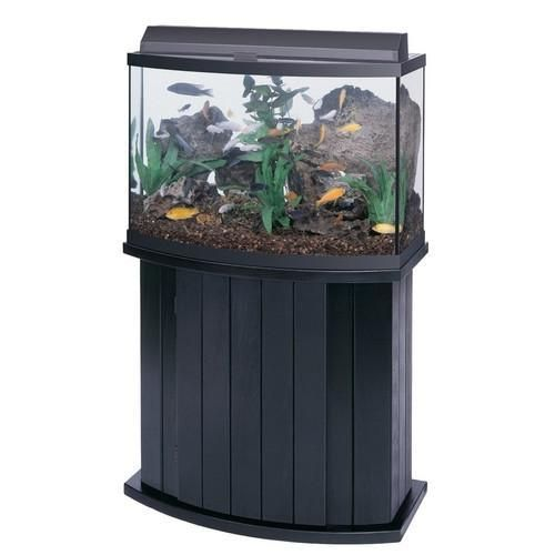 All-Glass Aquarium Bow Front Stand 36bf