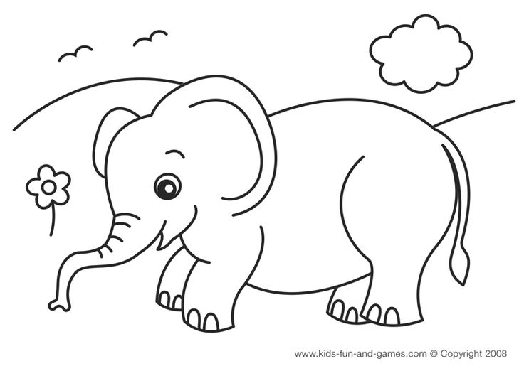 Nice Simple Animal Coloring Pages 80 Elephant Coloring Pages For