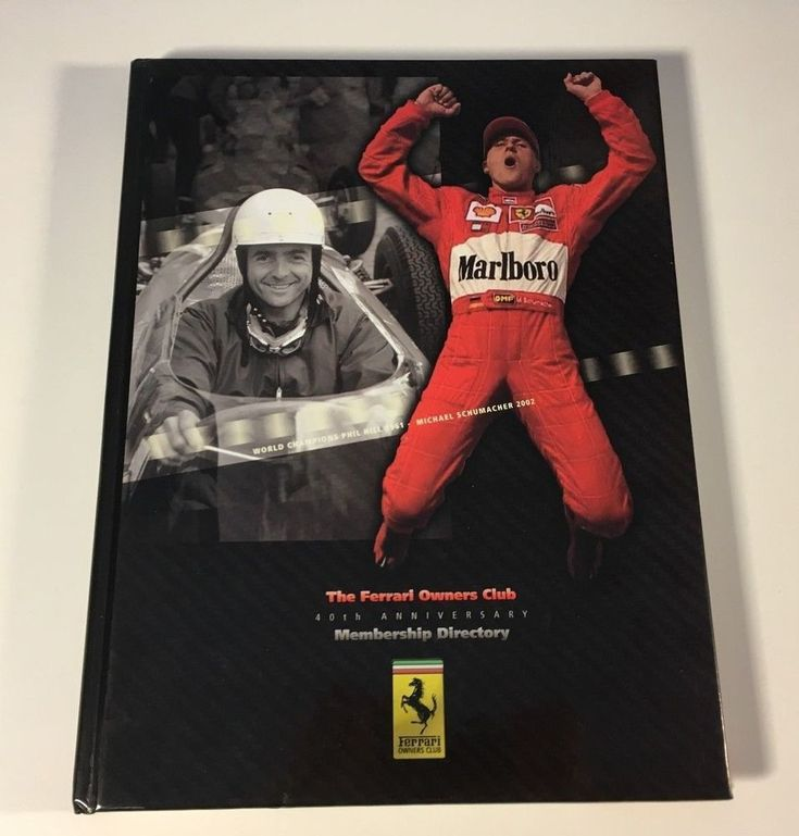 40th Ferrari Owners Club - 1961/2002 Hardcover Membership Directory Roster Book