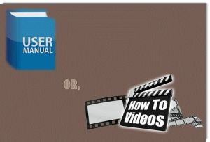 User Manual or How-to Videos?