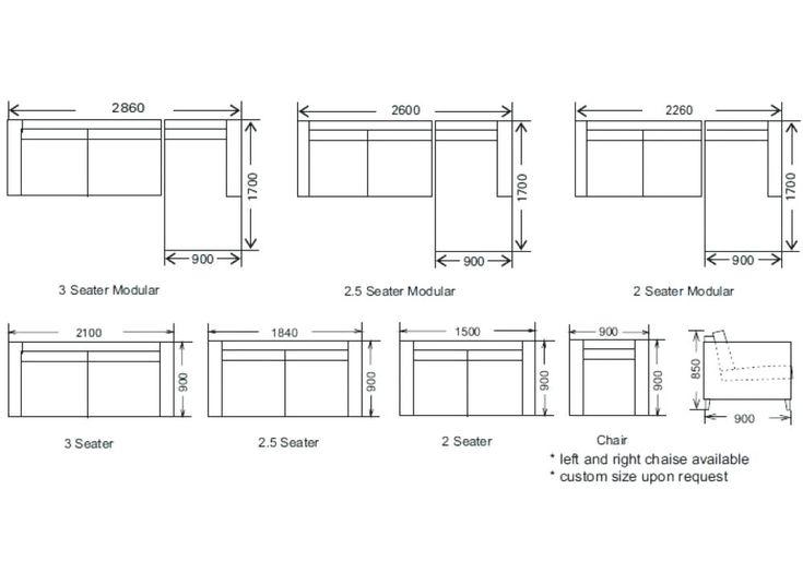 Standard Sofa Dimensions In Meters | Sofa dimension ...