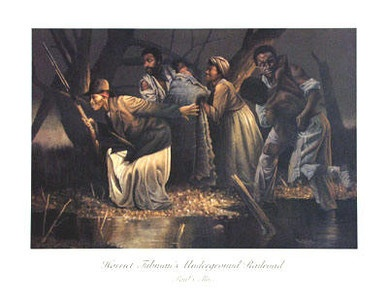 """This artwork shows Harriet Tubman and is very famous. """" THE EMPIRE OF COTTON"""". blackamericans.jimdo.com. Feb 28,2013."""