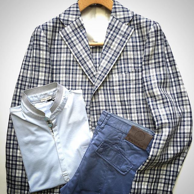 summer cordinate Jacket Bruciare, Shirt PaoloPecora, Trousers Havana & Co #fashion #mensfashion #cordinate #summer #jacket #shirt #trousers #italy #hiko #日子 #イタリア製 #コーディネート #ファッション #メンズファッション