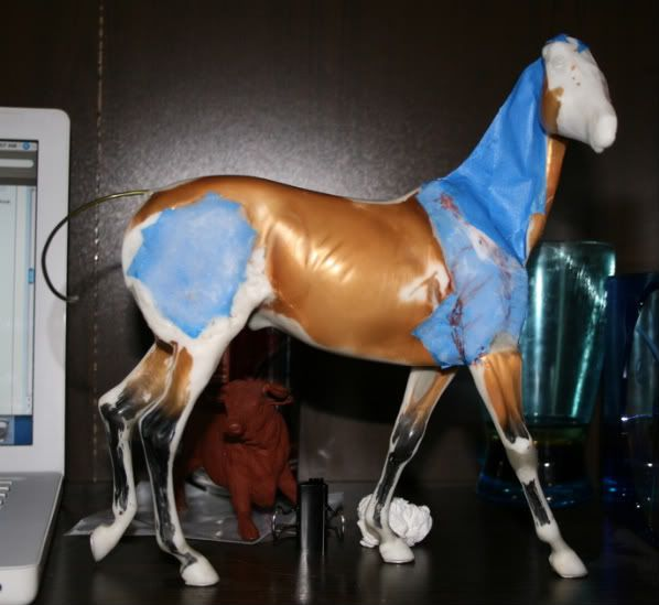 Don't Eat the Paint: Building a Frame & Armature, for both original sculpture and custom models (using blue painters tape and soda glue)