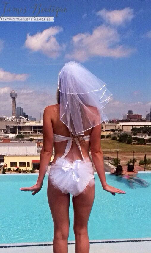 Bachelorette Party Booty Veil celebrate your by KayJamesBoutique