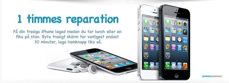 Laga iphone skärm göteborg pris