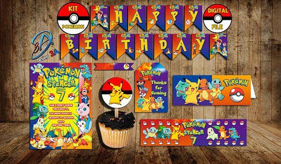 Kit printable Pokemon pokemon party pokemon birthday