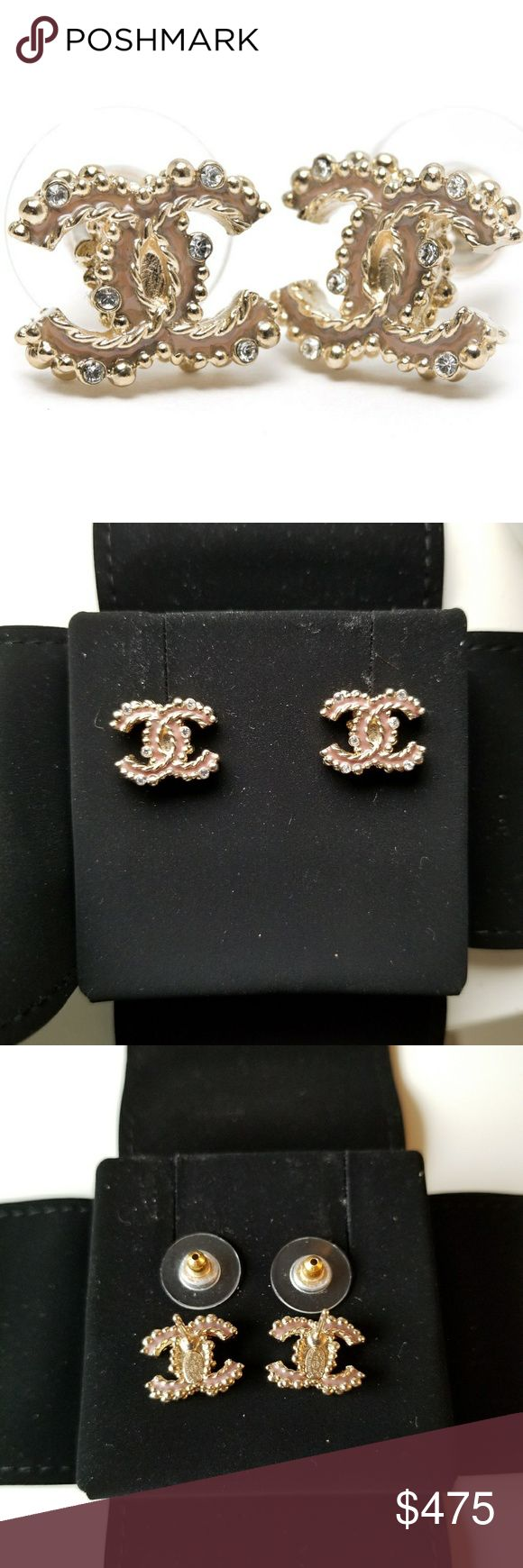 Chanel A97576 Beige Pink CC Stud Earrings Brand new! Purchased recently in May. Beautiful beige color that has a tint of pink. About the size of a dime. Comes with box, flower, and receipt. 🅿️🅿️ ready for cheaper price. CHANEL Jewelry Earrings