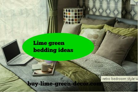 lime green bedding