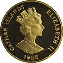 Elizabeth II gold 250 Dollars 1986, KM84, Proof 68 Ultra Cameo NGC, extremely rare type struck for the Commonwealth Games, total mintage 64.